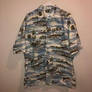 Pierre Cardin casual Button Down tropical shirt